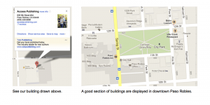 Google Maps graphic copy