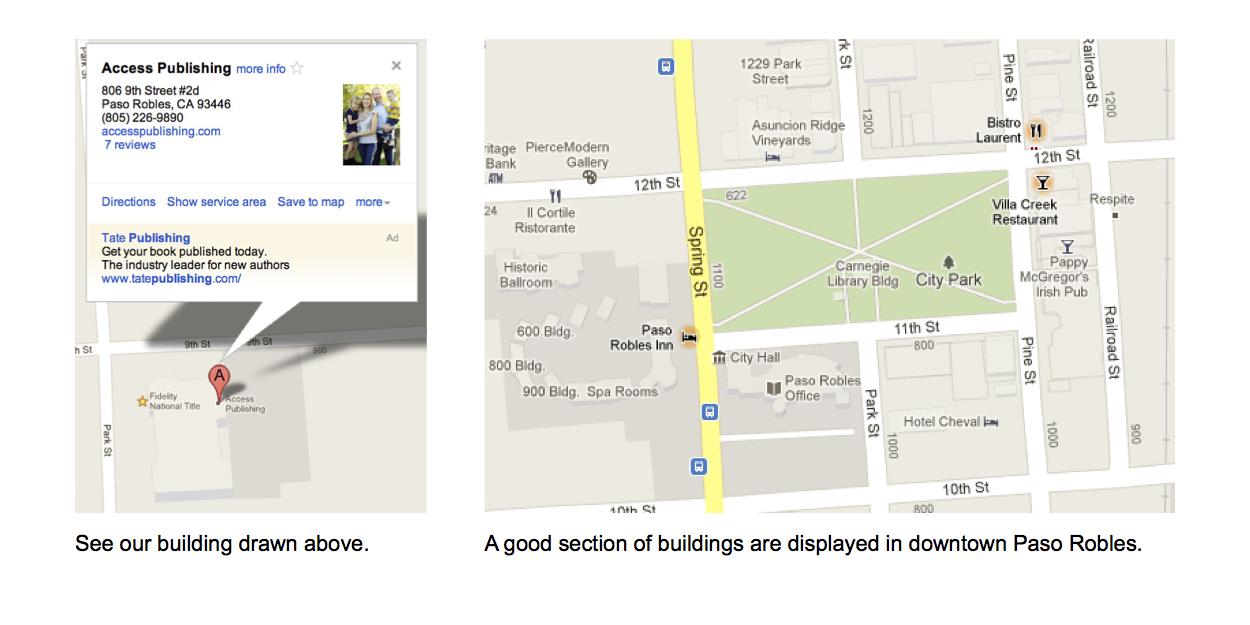 Local Search optimization service - Graphic of Google Maps in Paso Robles, CA