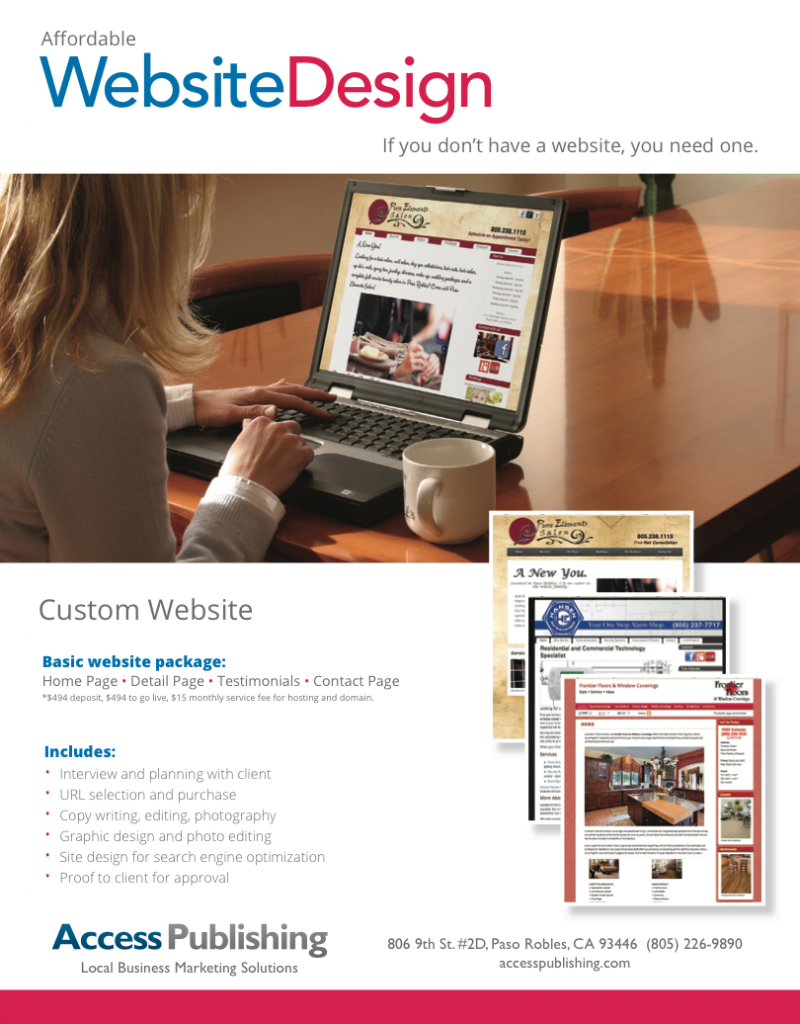 web design near paso robles, ca
