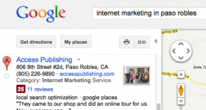 Use the address on your Google+ Local listing to maintain consistency.