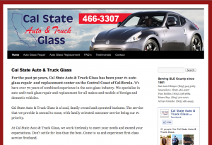 Cal State Auto & Truck Glass web design by Access Publishing.