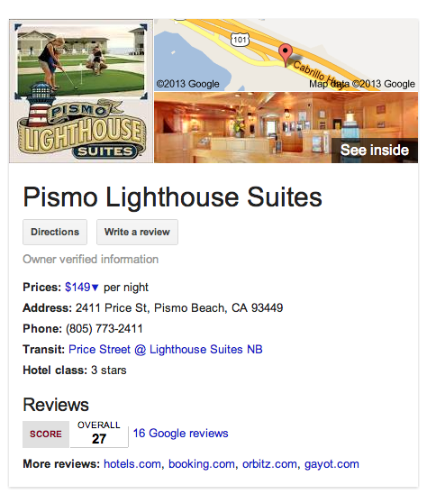 "The new look of Google search results with an invitation to ""see inside"""