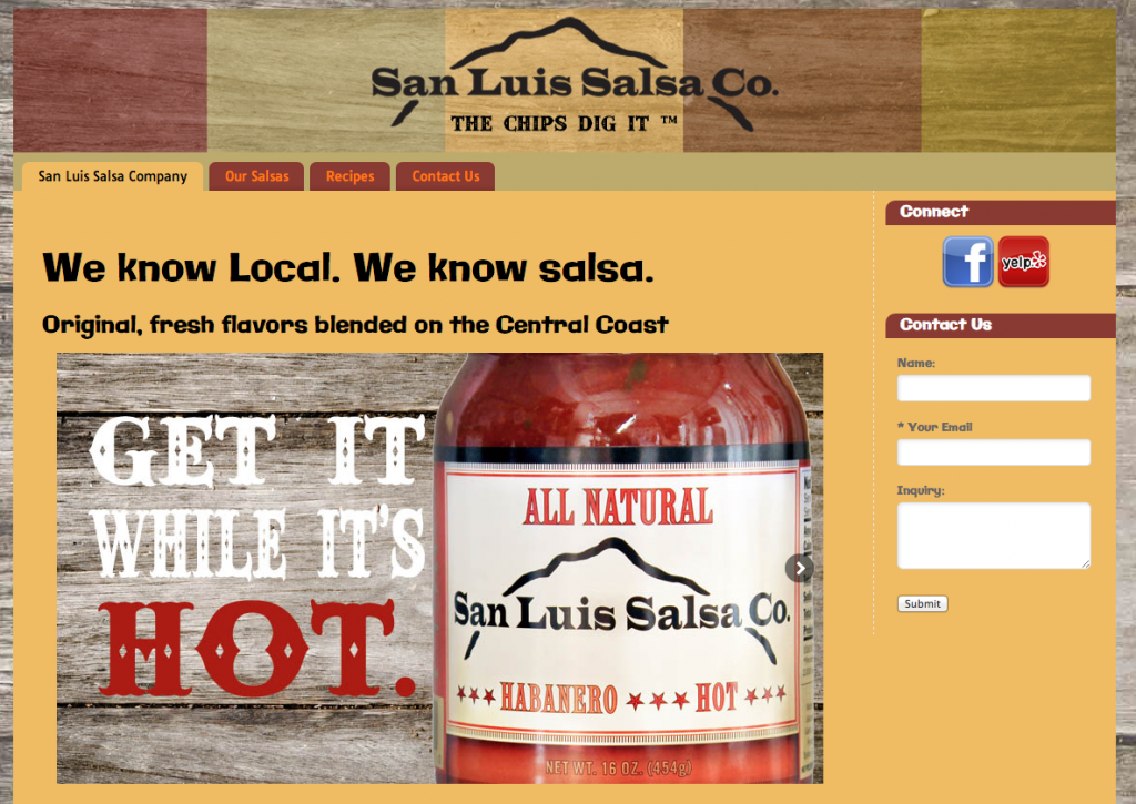 San Luis Obispo web design central coast