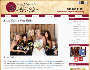 beauty salon web design central coast