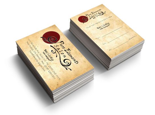 business cards on the central coast