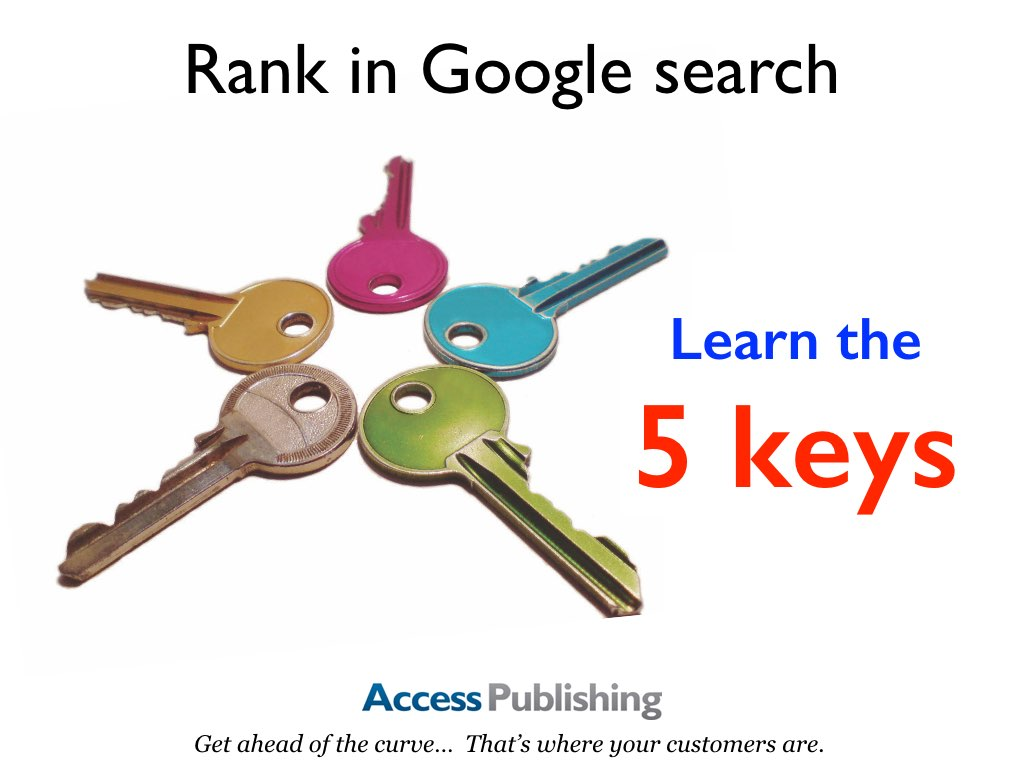 Presentation slides: Rank in Google search