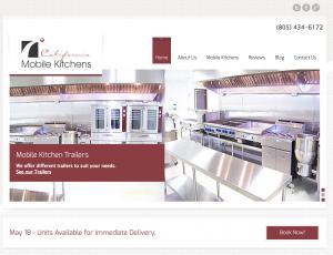 california mobile kitchens - california website design