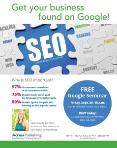Google seminar in Paso Robles