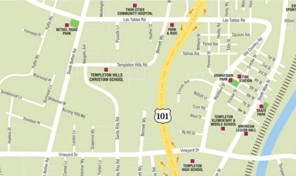 Advertise in new Templeton Map