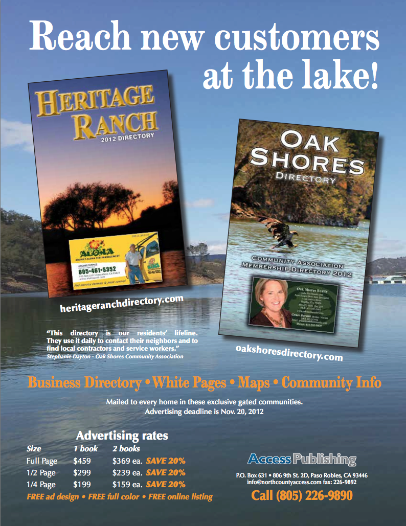 Heritage-ranch-directory-oak-shores-directory-access-publishing-paso-robles