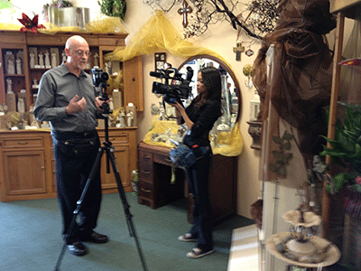 Jack Erhart of Access Publishing is interviewed by KCOY's Liberty Zabala