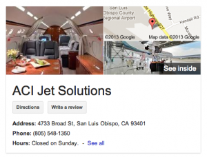 "Google now includes a ""see inside"" option when profiling businesses in search results."