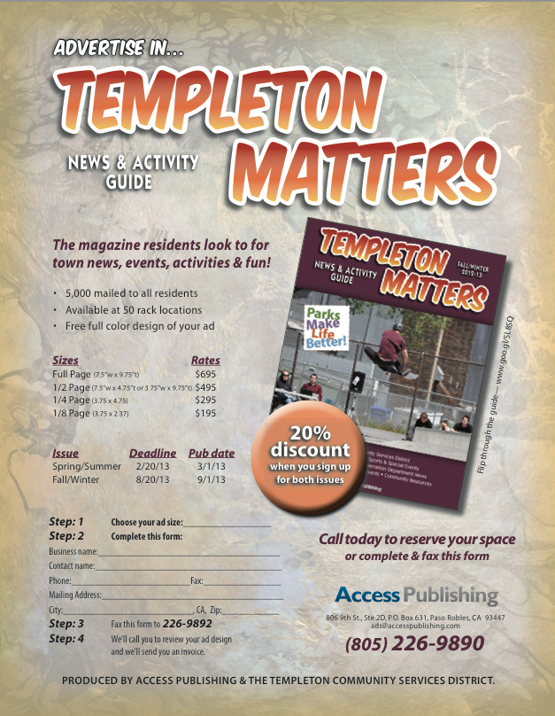 templeton matters advertising information