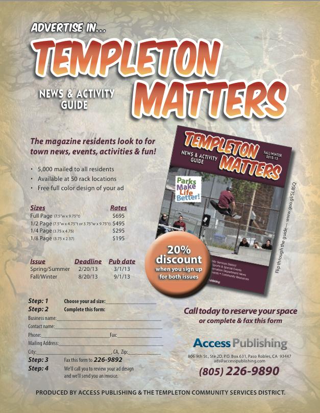 templeton matters advertising information