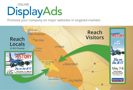 online display ads in San Luis Obispo, Paso Robles, Atascadero, Cambria