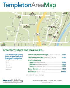 Advertise in templeton map