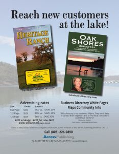 Heritage Ranch and Oak Shores Flyer for advertising