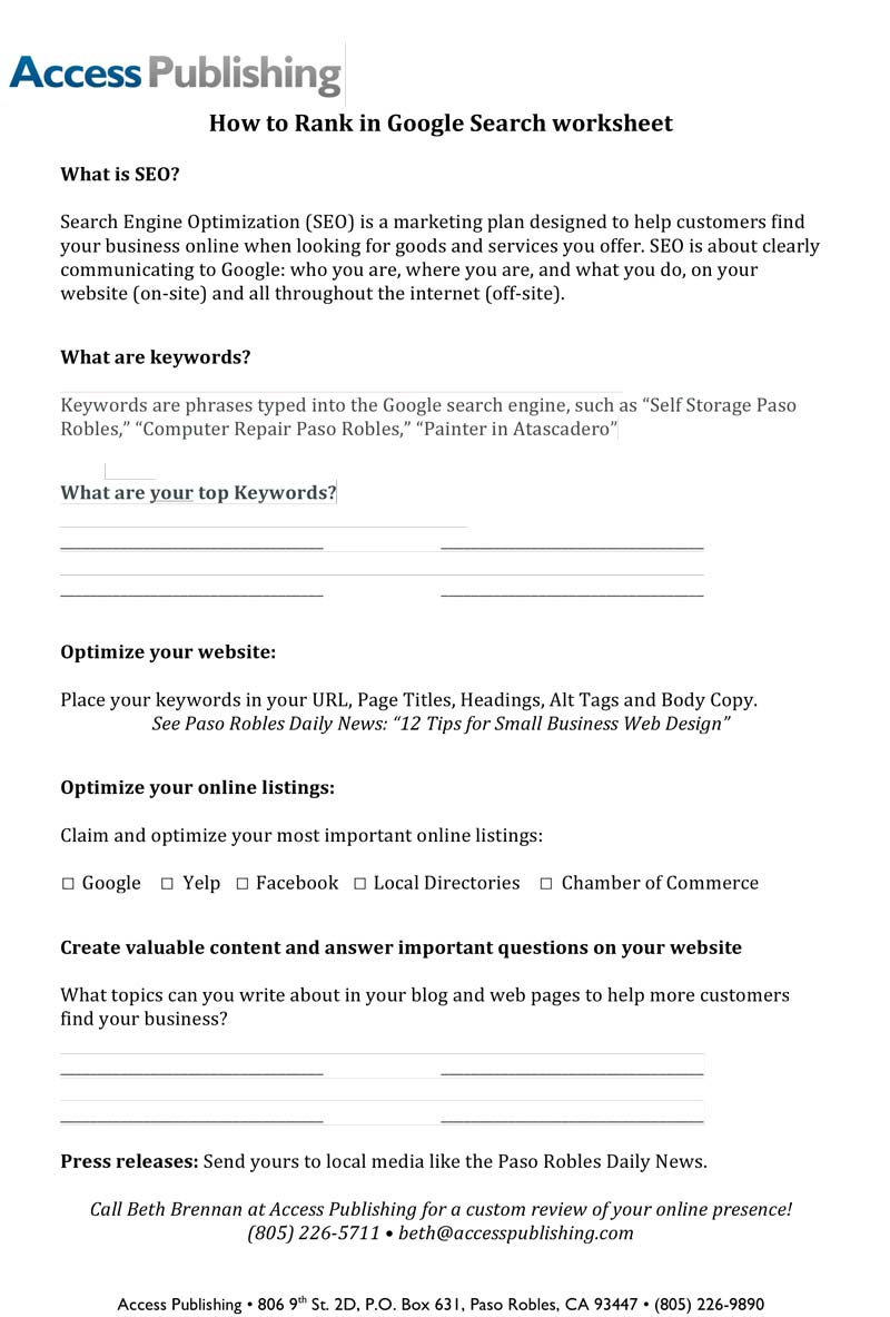 How-to-Rank-in-Google-Search-worksheet -