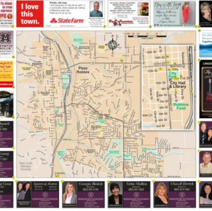 Advertise on new Paso Robles Area Map