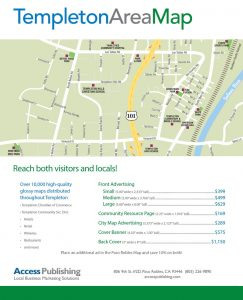 Templeton Area Map Flyer advertising prices